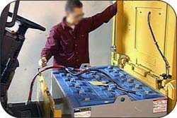 Safety Basics Handling And Working With Industrial Batteries Toyota Lift Equipment