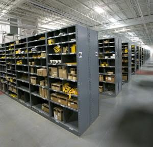 5S In Forklift Parts Storage