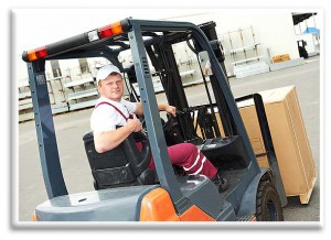 toyota forklift in use