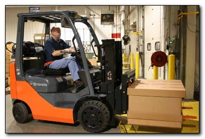 forklift operators working