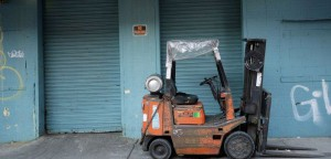 used tired old tcm forklift