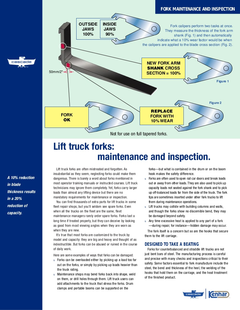 7 Crucial Forklift Fork Inspection Points Toyota Lift
