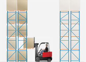 Heavy Duty Selective Pallet Racking System Toyota Lift