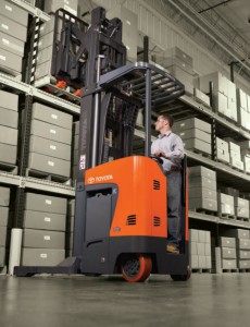 toyota reach trucks forklift in warehouse