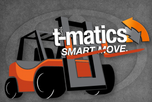 toyota forklift vehicle management system t-matics logo