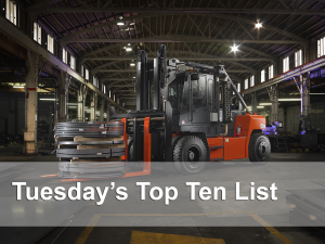 top ten forklift