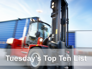 Tuesdays top ten banner