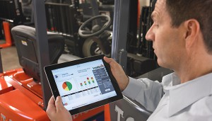 forklift telematics on ipad
