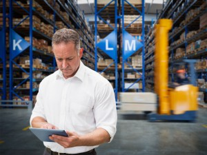 forklift fleet manager in warehouse