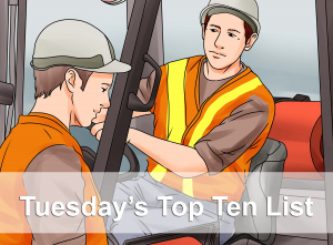 tuesday's top ten forklift list