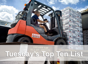 top ten forklift on ramp