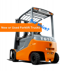 new versus used forklift toyota