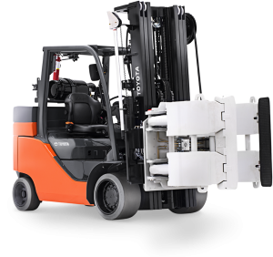 toyota forklift paper roll clamp attachment