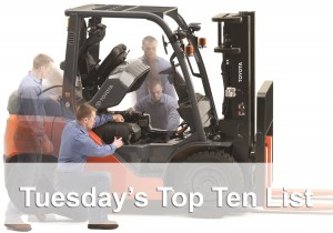 top ten tuesday forklift image