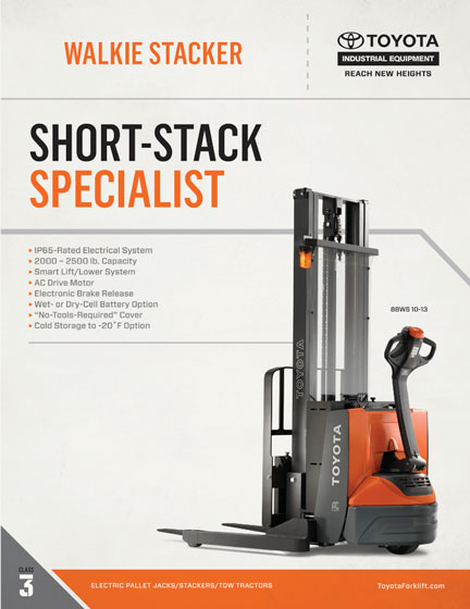 toyota adjustable walkie stacker brochure