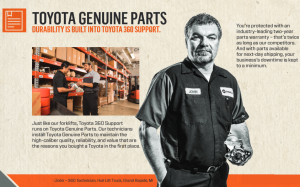 toyota forklift parts tech